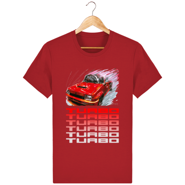 T-shirt Renault 5 TURBO 1 rouge - red_face