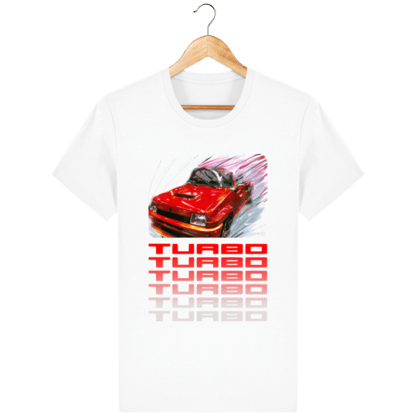 T-shirt Renault 5 TURBO 1 rouge - white_face