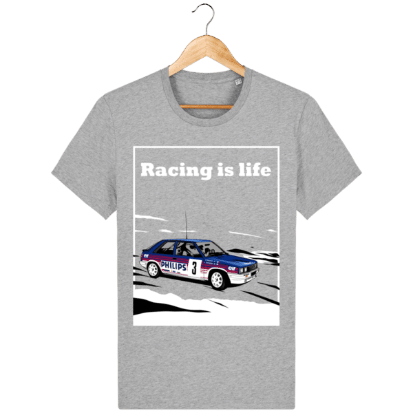 T-shirt Renault 11 Turbo Racing is life - heather-grey_face