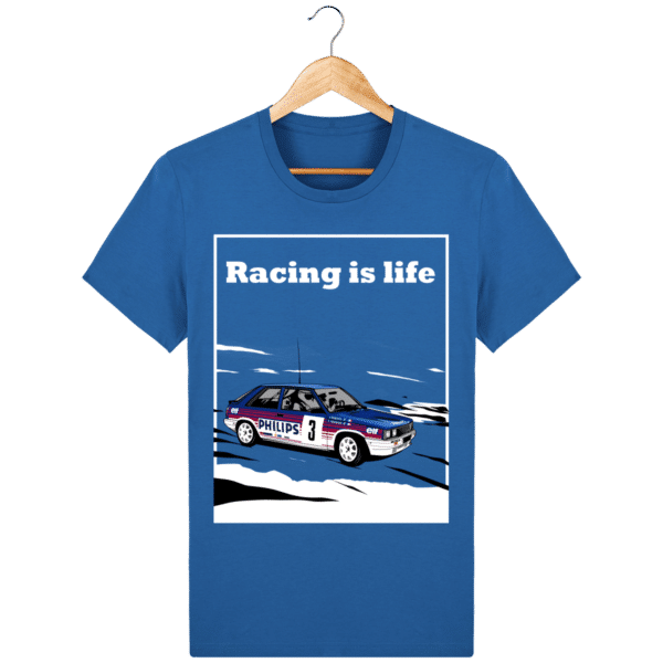 T-shirt Renault 11 Turbo Racing is life - royal-blue_face