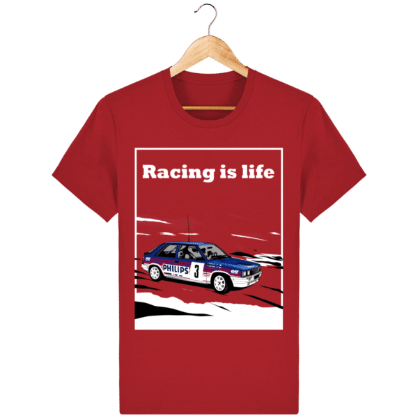 T-shirt Renault 11 Turbo Racing is life - Red - Face