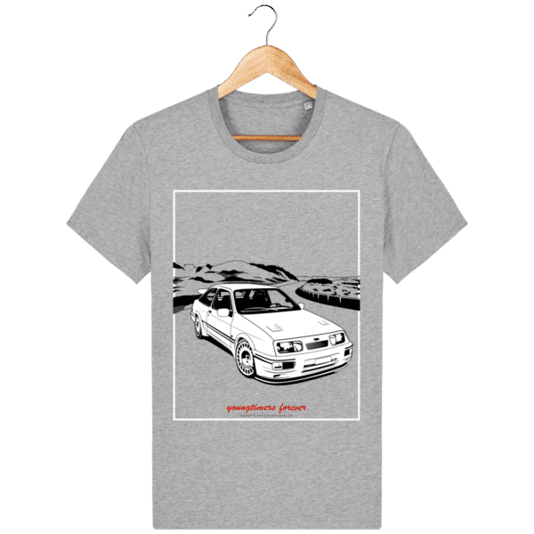T-shirt Ford Sierra Cosworth 2rm – Youngtimers forever heather-grey_face