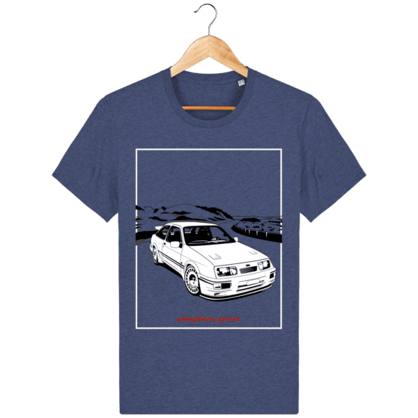 T-shirt Ford Sierra Cosworth 2rm – Youngtimers forever dark-heather-indigo_face