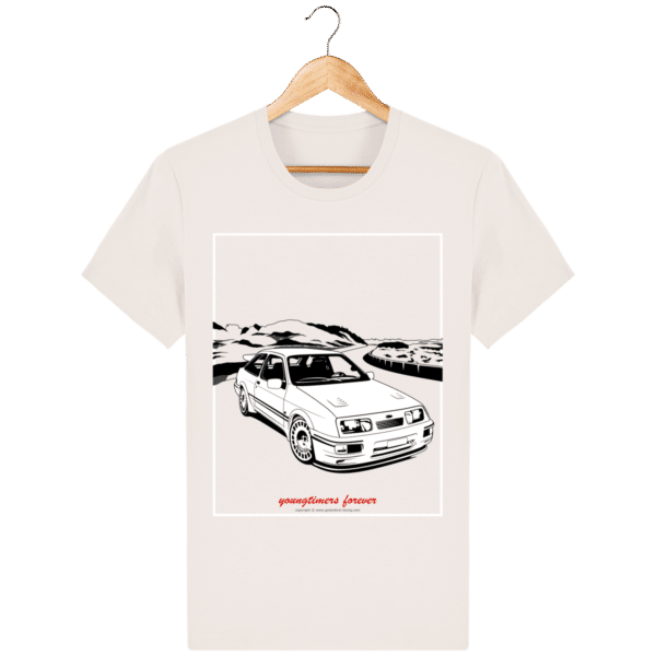 T-shirt Ford Sierra Cosworth 2rm – Youngtimers forever vintage-white_face