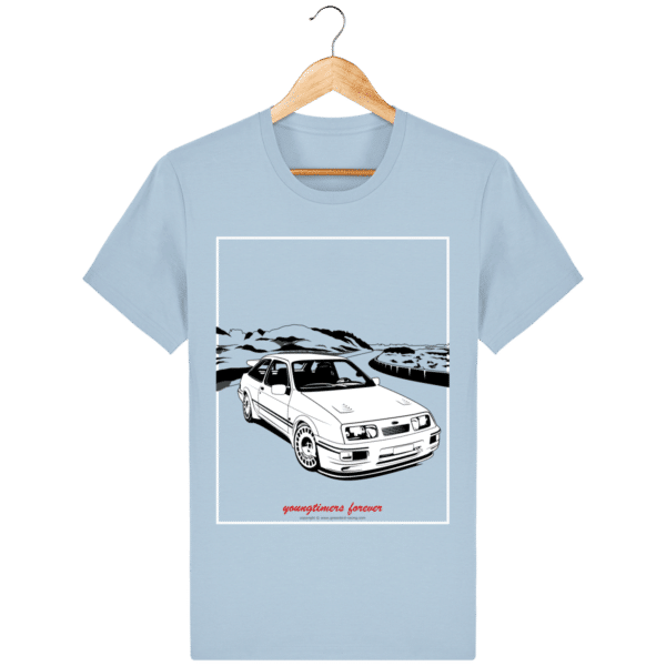 T-shirt Ford Sierra Cosworth 2rm – Youngtimers forever sky-blue_face