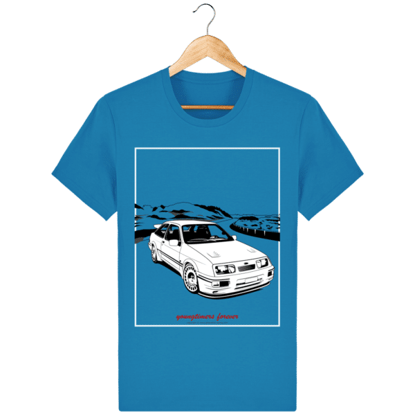 T-shirt Ford Sierra Cosworth 2rm – Youngtimers forever azur_face