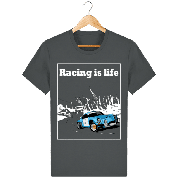 T-shirt Alpine A110 1860 usine vintage - Racing is Life anthracite_face