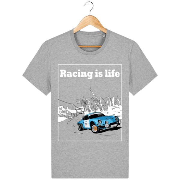 T-shirt Alpine A110 1860 usine vintage - Racing is Life heather-grey_face