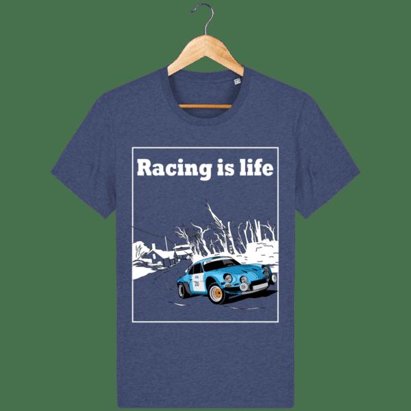 T-shirt Alpine A110 1860 usine vintage - Racing is Life dark-heather-indigo_face