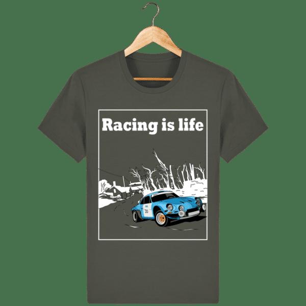 T-shirt Alpine A110 1860 usine vintage - Racing is Life khaki_face