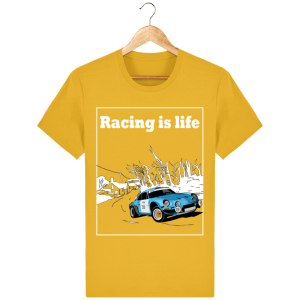 T-shirt Alpine A110 1860 usine vintage - Racing is Life spectra-yellow_face
