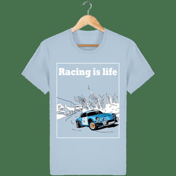 T-shirt Alpine A110 1860 usine vintage - Racing is Life sky-blue_face