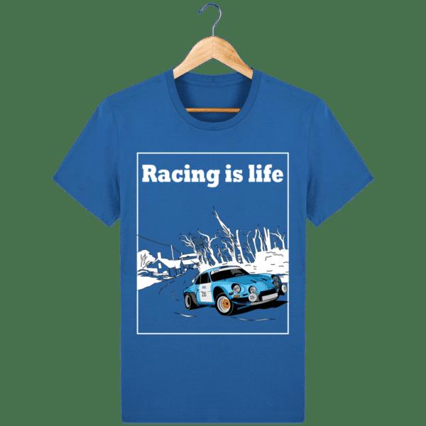 T-shirt Alpine A110 1860 usine vintage - Racing is Life royal-blue_face