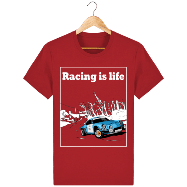 T-shirt Alpine A110 1860 usine vintage - Racing is Life red_face