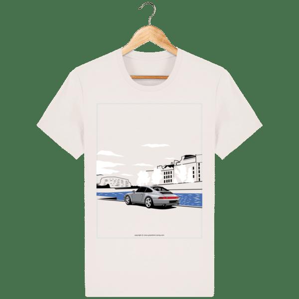T-shirt Porsche 993 bord de seine vintage vintage-white_face