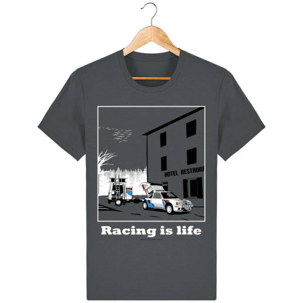 T-shirt 205 Turbo 16 assistance en essais anthracite_face