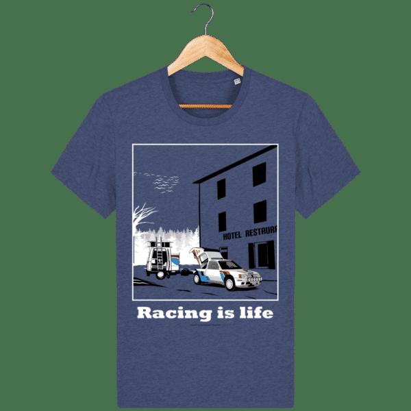 T-shirt 205 Turbo 16 assistance en essais dark-heather-indigo_face