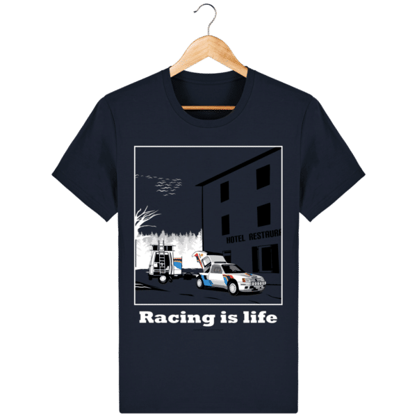 T-shirt 205 Turbo 16 assistance en essais french-navy_face