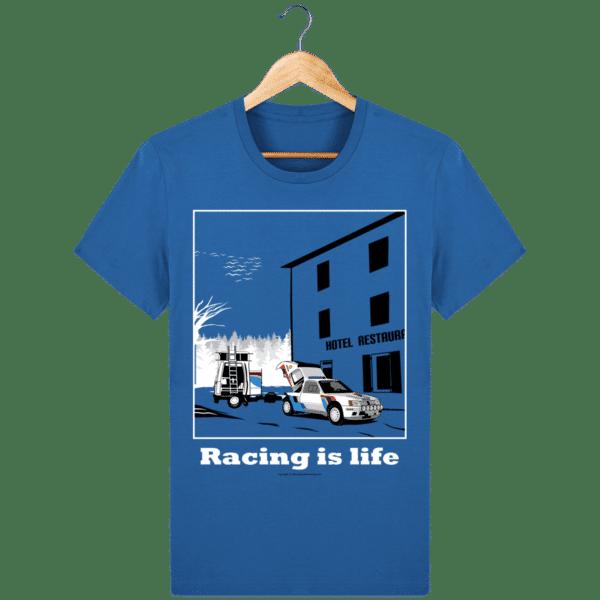 T-shirt 205 Turbo 16 assistance en essais royal-blue_face