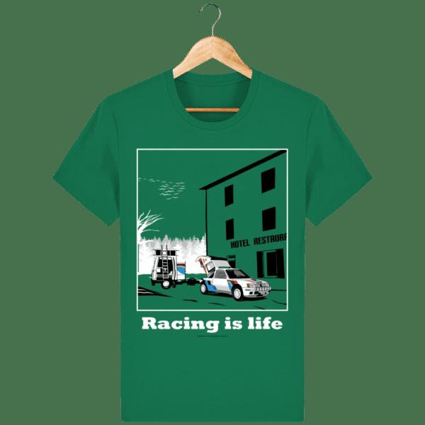 T-shirt 205 Turbo 16 assistance en essais varsity-green_face