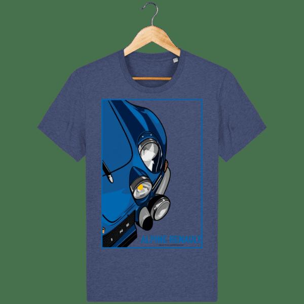 T-shirt Alpine A110 Vintage - Dark Heather Indigo - Face