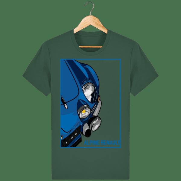 T-shirt Alpine A110 Vintage - Bottle Green - Face