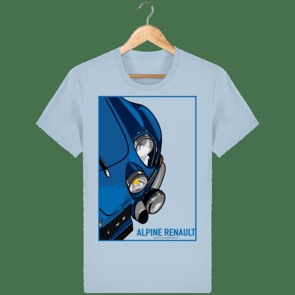T-shirt Alpine A110 Vintage - Sky blue - Face