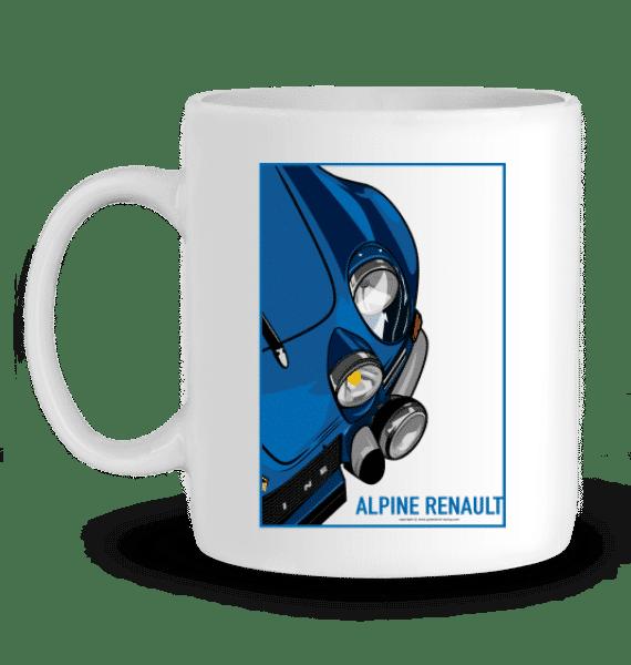 Mug Alpine A110 VHC 1973 bleue en Céramique - BLANC - Profil gauche