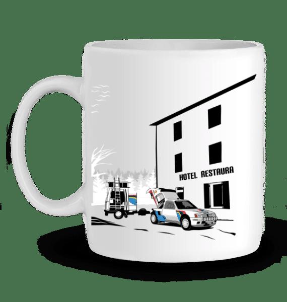 Mug 205 Turbo 16 assistance course Céramique - BLANC - Profil gauche