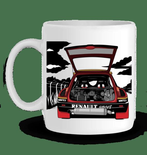 Mug R6 turbo tour de corse - BLANC - Profil gauche