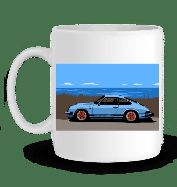 Mug Porsche 911 Carrera 3,2l - BLANC - Profil gauche