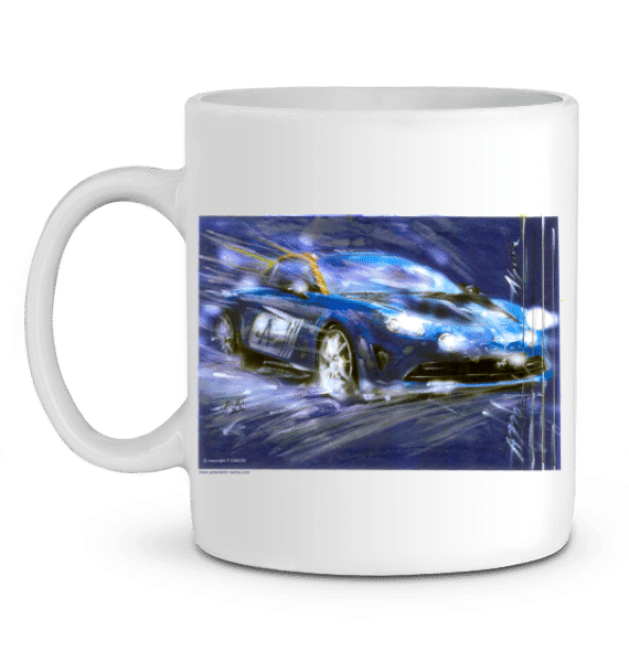 Mug nouvelle Alpine A110 - BLANC - Profil gauche
