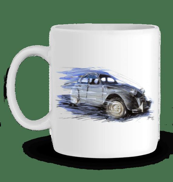 Mug Citroën 2cv en Céramique - BLANC - Profil gauche