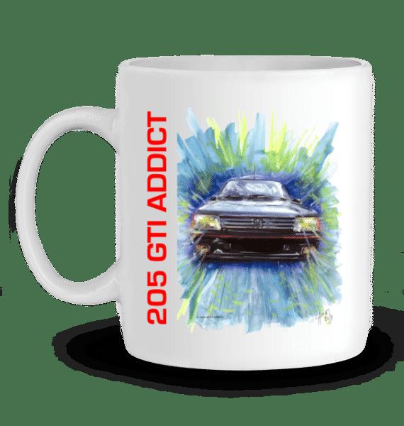 Mug 205 GTI 1,9 gris anthracite Addict - BLANC - Profil gauche