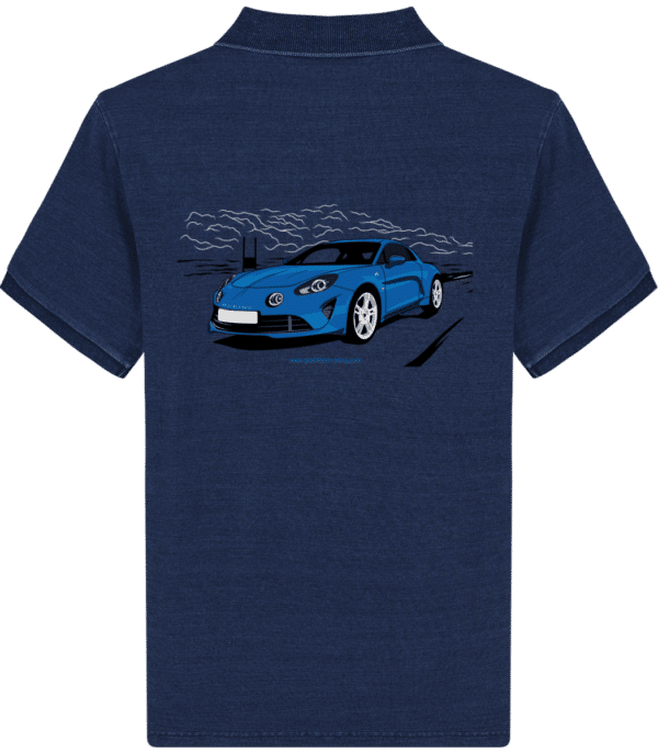 Polo Alpine A110 bleu imprimé dos - Dark Washed Indigo - Dos