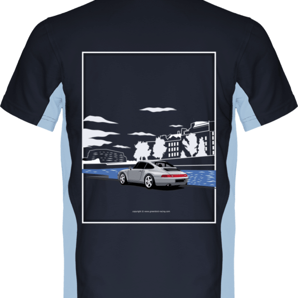 Polo Porsche 993 Paris rives de seine - Navy / Sky Blue - Dos