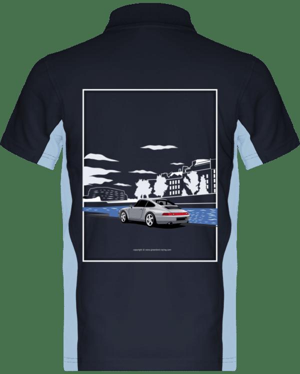 Polo Porsche 993 Paris rives de seine - Navy / Sky Blue - Dos