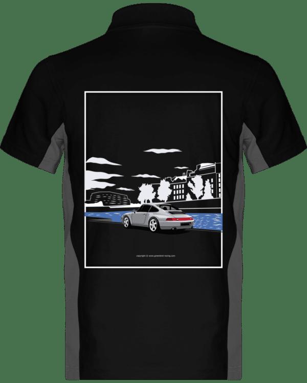 Polo Porsche 993 Paris rives de seine - Black / Slate Grey - Dos