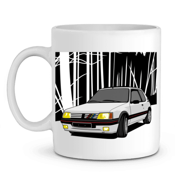 Mug 205 GTI blanche en Céramique - BLANC - Profil gauche