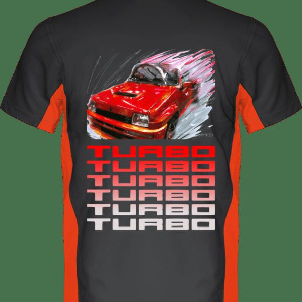 Polo Renault R5 Turbo 1 rouge - Dark Grey / Orange - Dos
