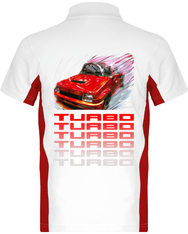 Polo Renault R5 Turbo 1 rouge - White / Red - Dos