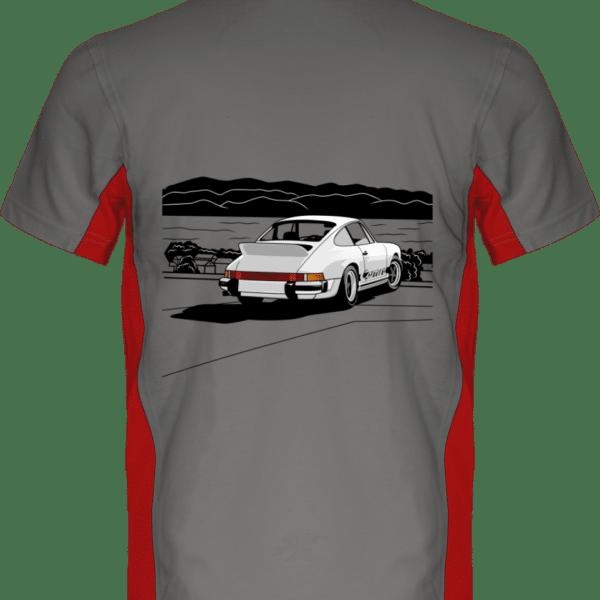 Polo Porche 911 3,0 Carrera blanche bord de mer - Light Grey / Red - Dos