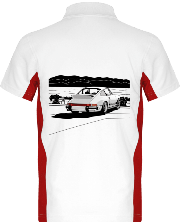 Polo Porche 911 3,0 Carrera blanche bord de mer - White / Red - Dos