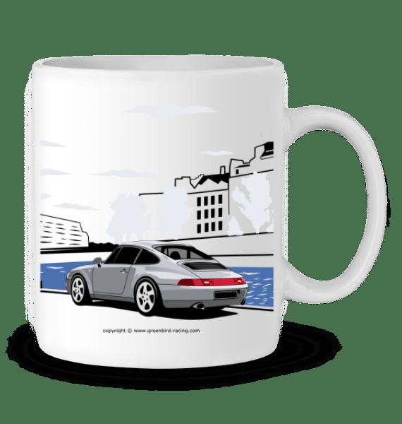Mug Porsche 993 double face - BLANC - Profil droit
