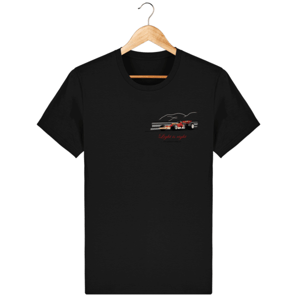 T-shirt Formule 1 1970 Lotus 72 Jochen Rindt Light is right - Black - Face