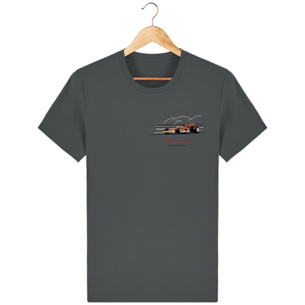T-shirt Formule 1 1970 Lotus 72 Jochen Rindt Light is right - Anthracite - Face
