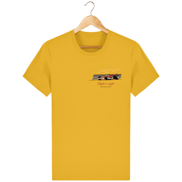 T-shirt Formule 1 1970 Lotus 72 Jochen Rindt Light is right - Spectra Yellow - Face
