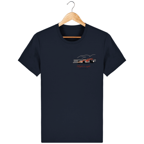 T-shirt Formule 1 1970 Lotus 72 Jochen Rindt Light is right - French Navy - Face