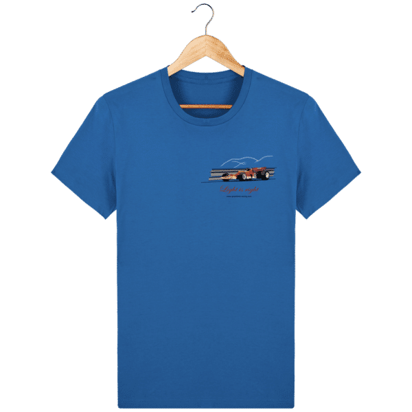 T-shirt Formule 1 1970 Lotus 72 Jochen Rindt Light is right - Royal Blue - Face