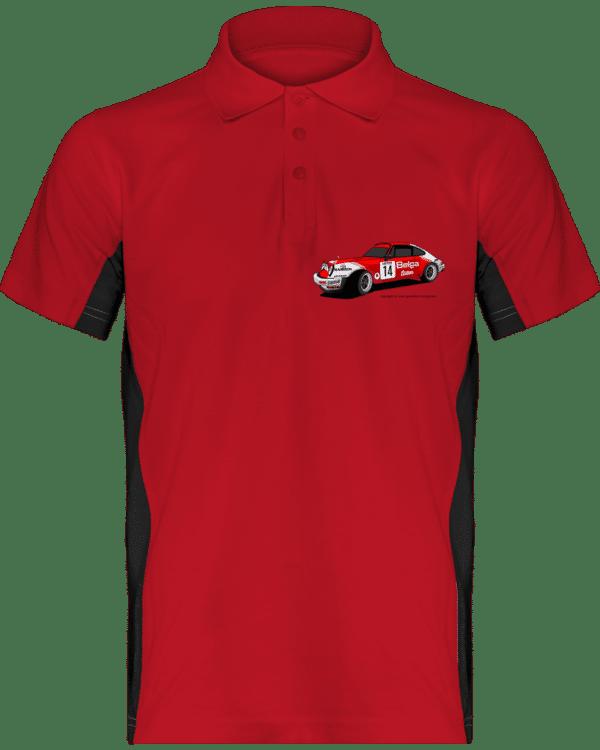 Polo Porsche 911 RSR Belga Team rallye VHC - Red / Black - Face